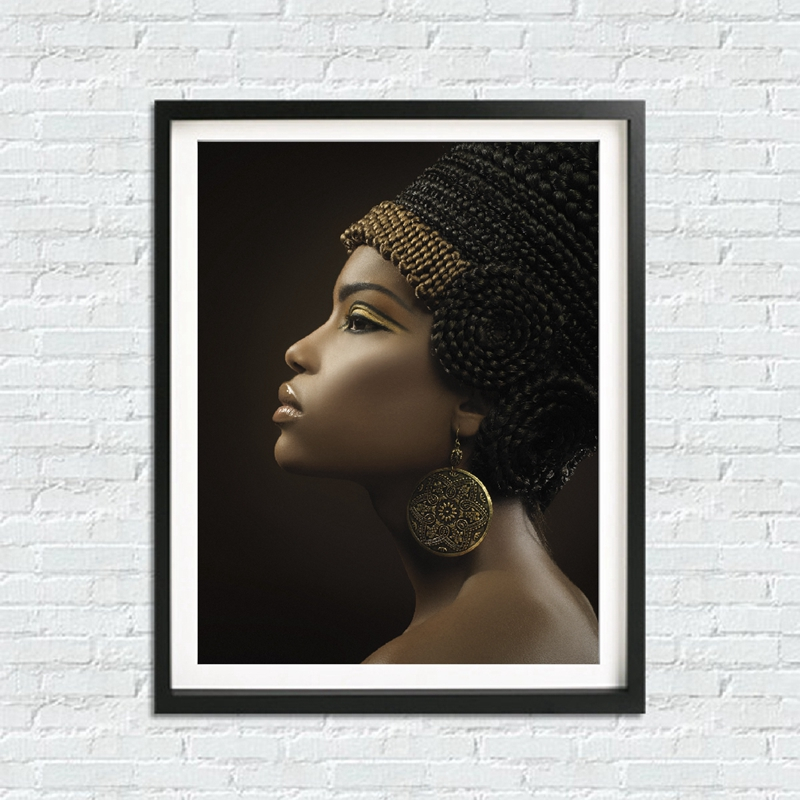 African Woman Art Canvas Painting Home Decoration