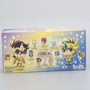 Image 3 - 21 יח\סט אנימה Seiya דמות זהב ביצת תיבת PVC פעולה איור אבירי של גלגל המזלות צעצוע דגם Q מהדורה ילדים מתנה