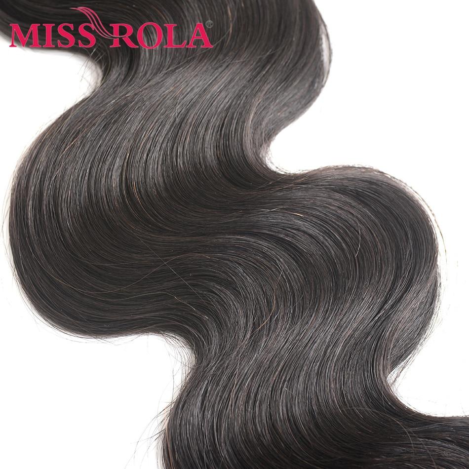 Fröken Rola Hair Peruvian Body Wave With Closure 100% Human Hair 3 - Mänskligt hår (svart) - Foto 6