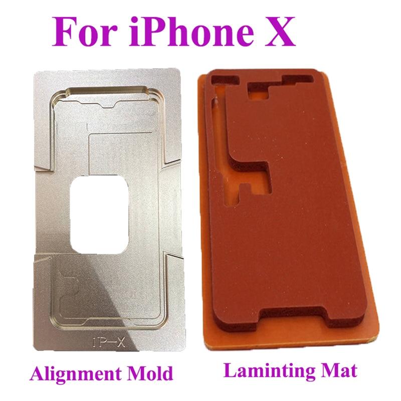 Moule Pour iPhone X I10 IX IPX Nouveau LCD Écran De Laminage et Positionnement Alignement Tapis Vide En Métal Moule De Réparation Pièces