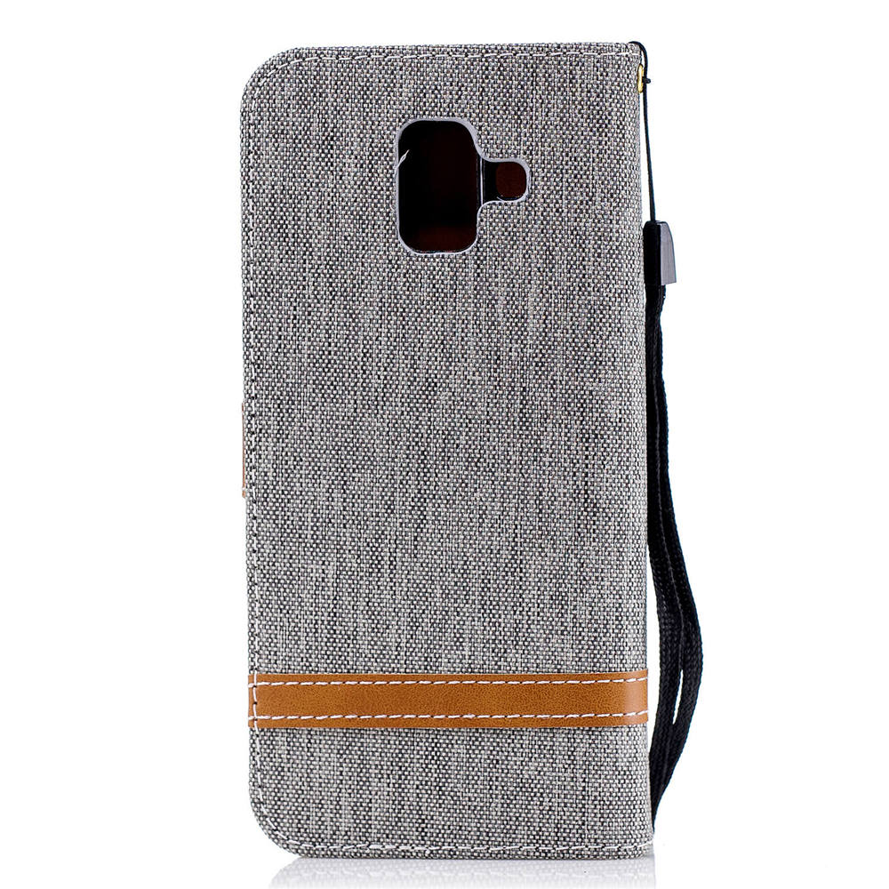 best service 66146 aa596 Denim Wallet Book Flip Covers For Samsung Galaxy A6 2018 SM-A600FN/DS 32GB  SM-A600N TPU Cases For SAMSUNG A6 2018 Cases Covers