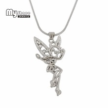 Dropshipping Angel Dance Girl Crystal Sports Pendant dainty necklace tif jewelry