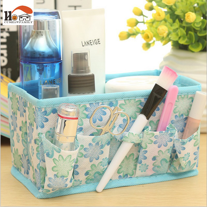 CUSHAWFAMILY Folding Multifunction Makeup Cosmetic stationery desktop Organizer sundries Storage Box Container Case content box