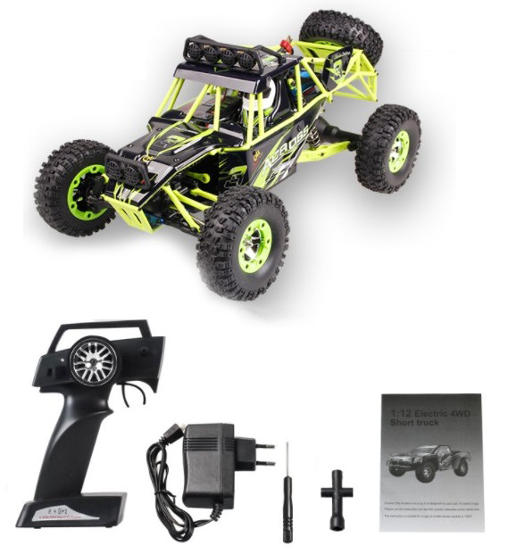 WLtoys 12428 RC Car 4WD 1/12 2.4G 50KM/H High Speed Monster Truck Remote Control Car RC Buggy Off-Road Updated Version VS A959-B 2017 new 40km h rc high speed car 1 16 proportionl 2 4g 4wd remote control off road monster truck electric power toy vs 94107pro