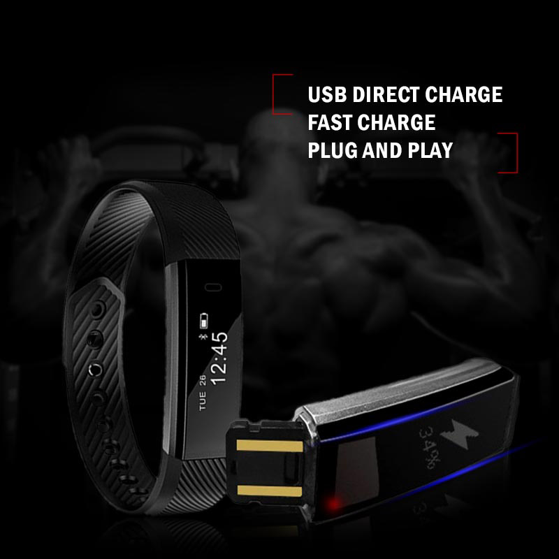 Image 5 - TK47 Smart Wristband Fitness Tracker Band Bluetooth Sleep Monitor Watch Sport Bracelet for ios Android Phone pk Fit Bit Mi 2-in Smart Wristbands from Consumer Electronics