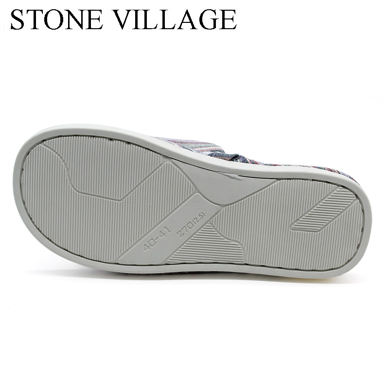 STONE VILLAGE large size 36-45 Summer Striped Mute Flax Women Slippers shoes  Indoor Floor Home Slippers Shoes Drop Shipping 4