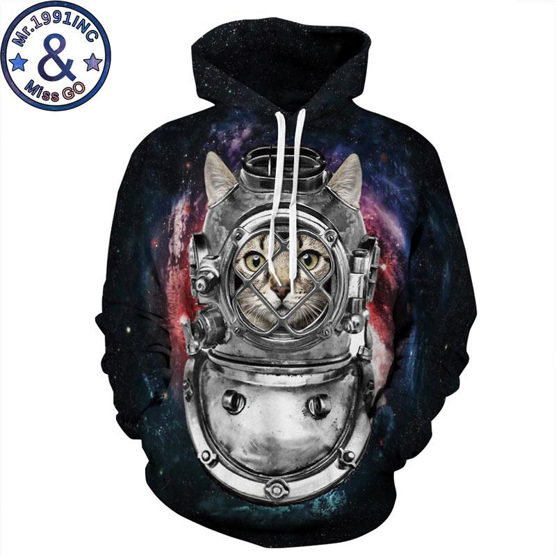 Funny 3D Metal Cat Print Hoodie Sweatshirt Men/Women 3D Hoodies Sweatshirts Men Hip Hop Streetwear Hooded Tracksuit Sweat Homme