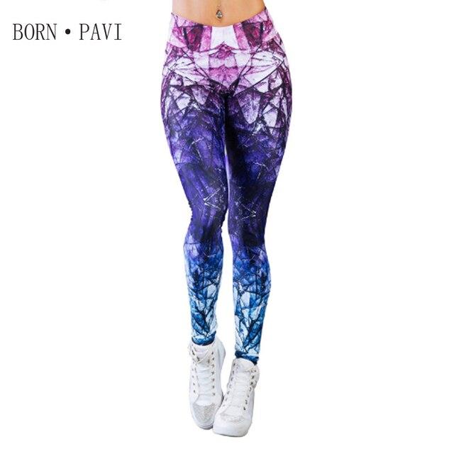 BORNPAVI New Elbows For Fitness Leggings For Women Fashion Fitness Leggings digital printing Leggings Slim joker pants Leggings