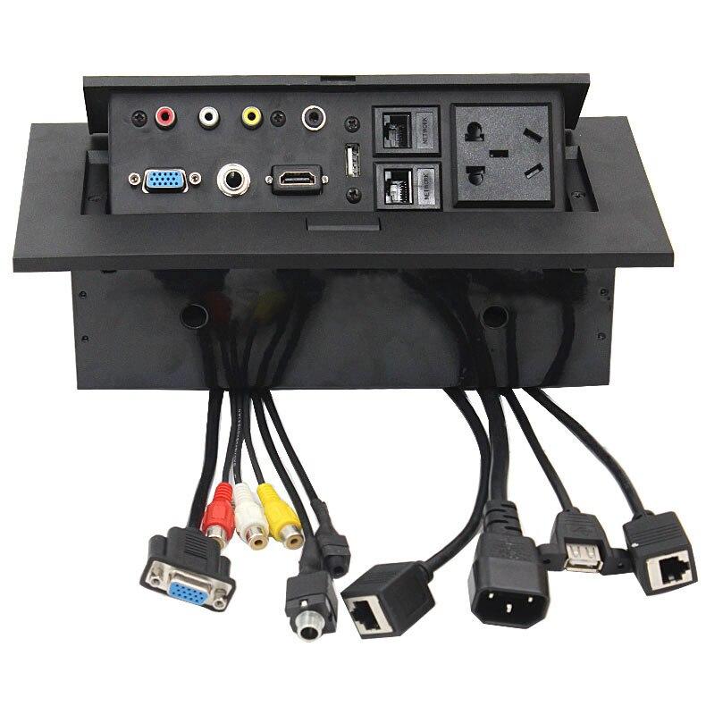 Conference Room Table Av BoxKonferenztisch Verbindungsbox HDMI VGA - Conference table box for av connectivity