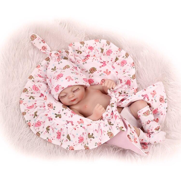 ФОТО Mini Bath Toy Baby Doll lifelike simulation soft  reborn baby toys for girls.
