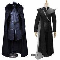 2019 Movie Thrones Game Daenerys Targaryen And Jon Snow Cosplay Costume Halloween Carnival Adult Men Women Uniforms COSPLAY