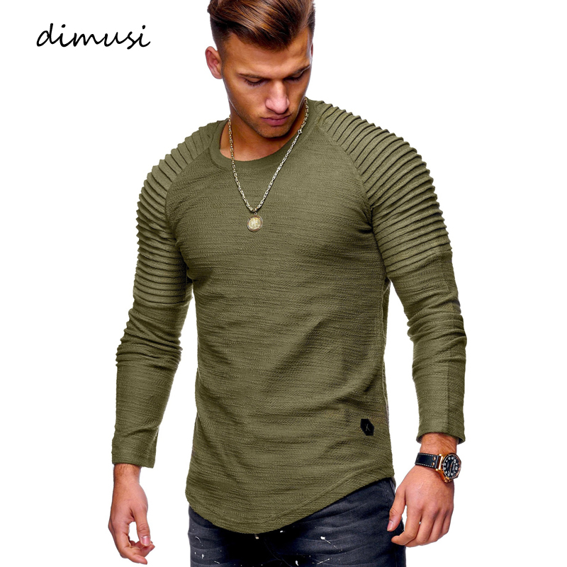 DIMUSI Summer Mens T Shirts  Men Long Sleeve Sweatshirt T Shirt Fashion Mens Hip Hop Streetwear Sportswear Tracksuit Tops Tees