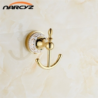 Practical Hook Bathroom Accessories Designer European Chrome Golden Robe Hook Clothes Hook Coat Hook Bathroom Bathroom