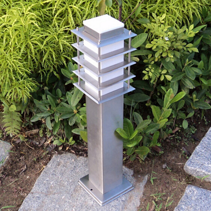 110 v 220 v 12 v 24 v sward gramado paisagem jardim gramado Jardim ao ar & 2 pieces/lot square pole bollard column LED light lamp villa garden ...