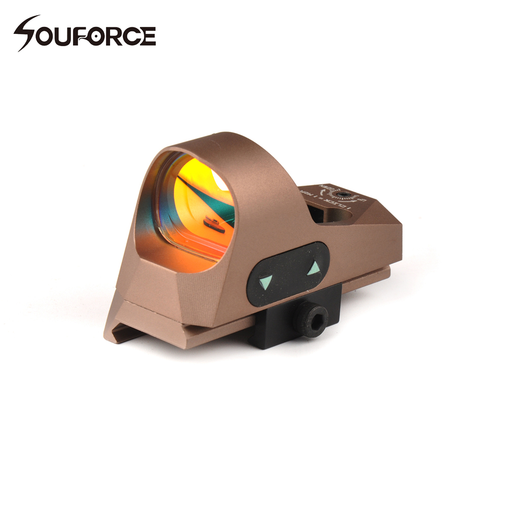 Orginal Tactical Mini Reflex Sight 3 MOA Reticle Red Dot Sight Scope with Quick Detach Mount For 20mm Rail Airsoft Rifle vector optics mini 1x20 tactical 3 moa red dot scope holographic sight with quick release mount fit for ak 47 7 62 ar 15 5 56
