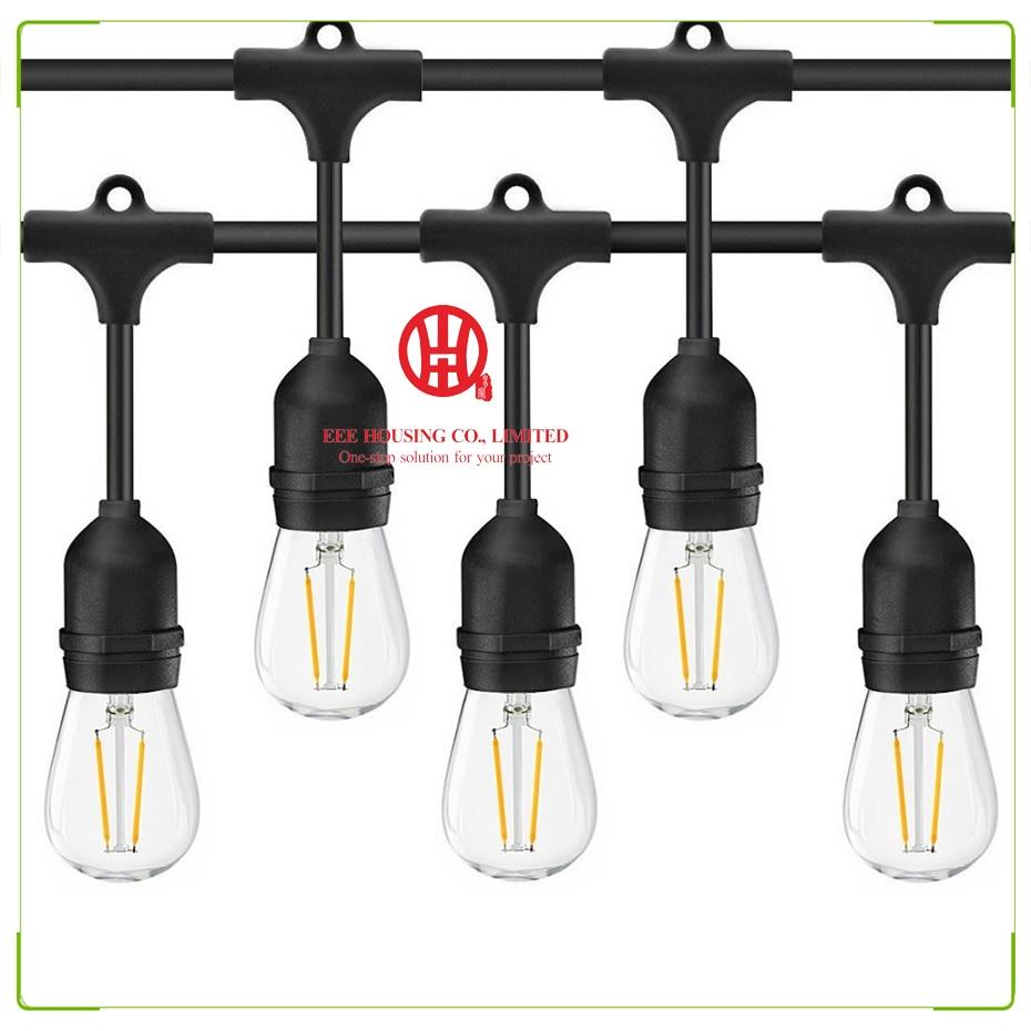 Thrisdar 15M 15PCS 11W Globe Bulbs Outdoor String Light S14 Commercial Grade E26 Street Garden Patio Backyard String Garland