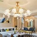 Современные хрустальные светодиодные люстры  освещение из Золотого Металла  для гостиной  светодиодные подвесные люстры  светильники для с...