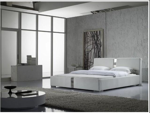 Contemporáneo moderno cama de cuero muebles de dormitorio de matrimonio Hecho en China