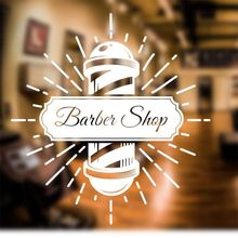 Man Barber Shop Sticker Name Time Chop Bread Decal Haircut Shavers Posters Vinyl Wall Art Decals Windows Decoration Mural Q1002