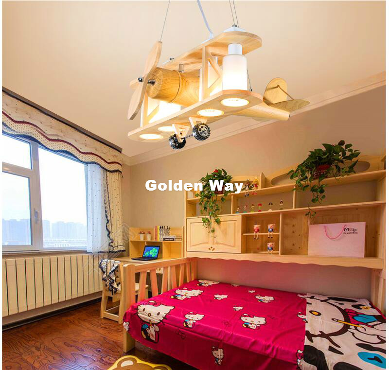 Modern Children Pendant Lamps Kids Hanging Light Plane Creative Children Boy Girl 's Pendant Lights Home Decoration Lighting