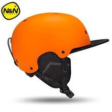 2017 NANDN Men Skiing Helmet Autumn Winter Adult Sports Safety Women Horse Riding Monoboard Skiing Snowboard Helmets NT635