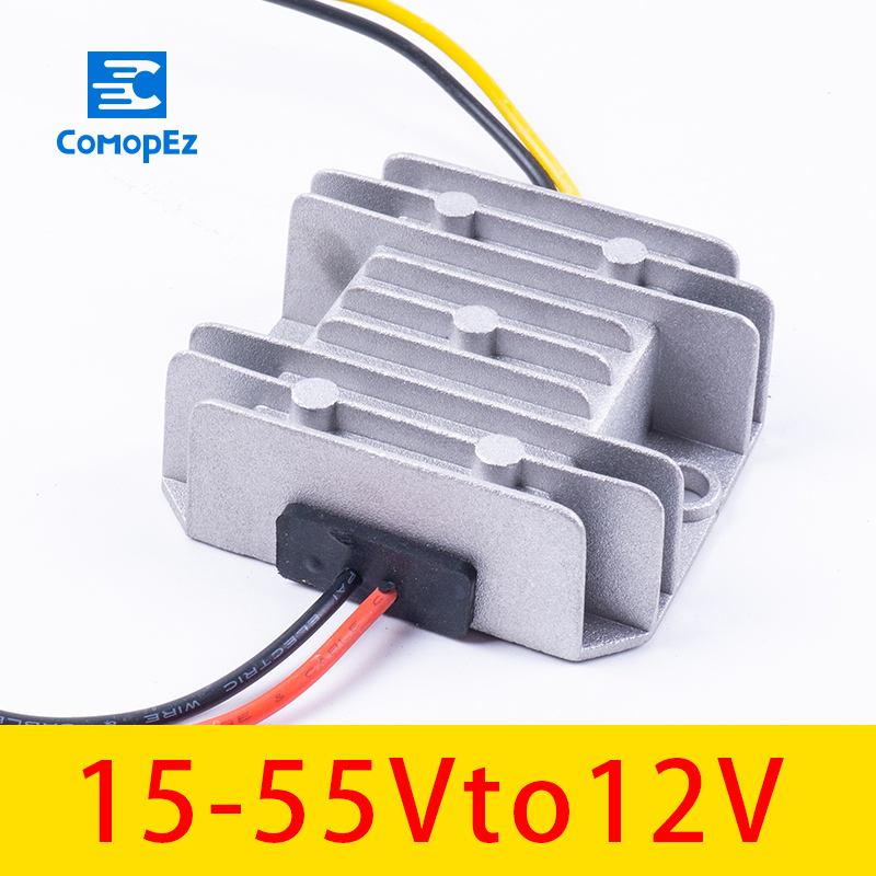 12V Voltage Converter 15-55V to 1A 2A 3A Step Down DC 12 V Regulator for Cars Solar
