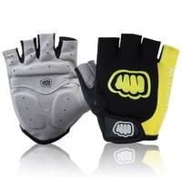 Cool Unisex Cycling Gloves Men Sports Half Finger Anti Slip Gel Pad Motorcycle MTB Road Bike