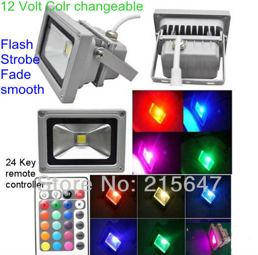 12 Volt Low Voltage Landscape Exterior Lighting 10w RGB Color Changeable  Spot Led Waterproof Led Garden