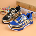 2015 New Autumn Children's Shoes Girls Boys Kids Sneakers Sports hook Guys Casual Running Shoes Black Blue Mesh Soft