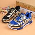 2015 nuevos niños del otoño shoes niñas niños niños chicos running casual shoes sneakers sports gancho negro azul de malla suave