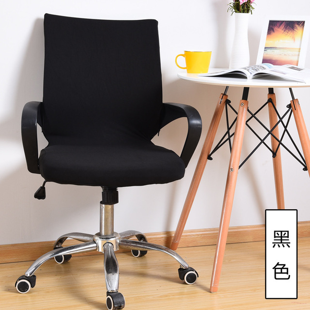 Swivel Chair Covers Your Zone Flip Instructions Aliexpress Com Buy Stretchable Spandex Office Cover Slipcover Armrest Seat Antimacassar Home Decoration