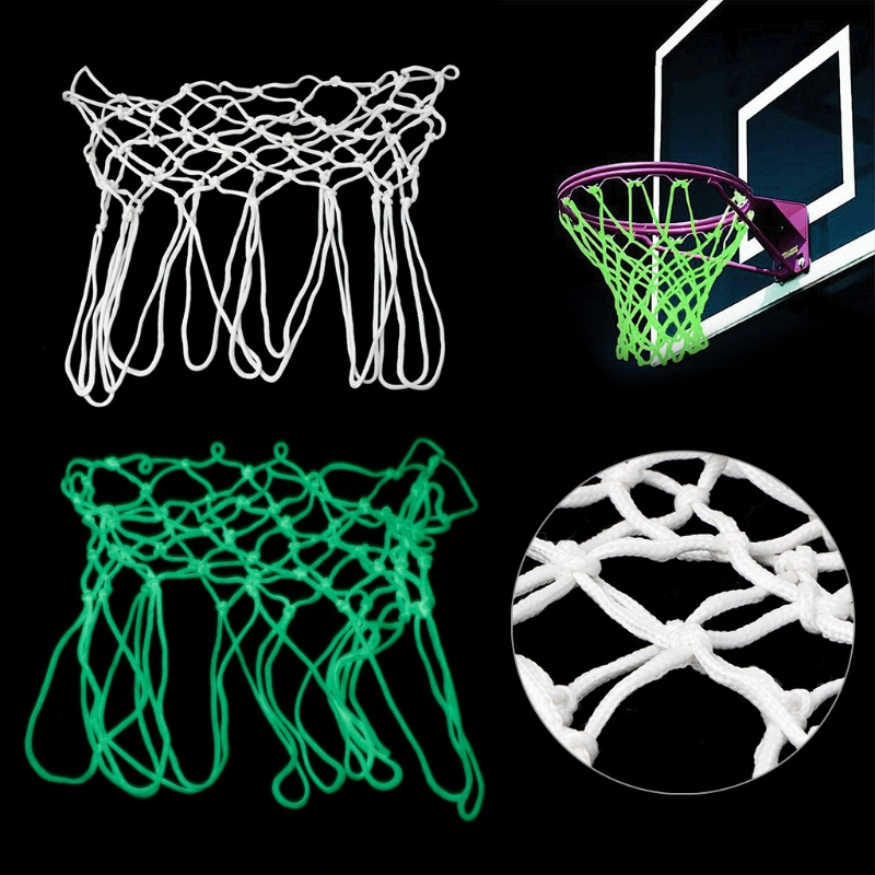 1Pc Standard Basketball Hoop Net Luminous Glowing Universal Indoor Outdoor Shooting Training ...