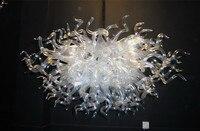 LR099 100 % Hand Geblasen Wohnkultur Stil Murano Klarglas Kristall Kronleuchter Beleuchtung-in Kronleuchter aus Licht & Beleuchtung bei