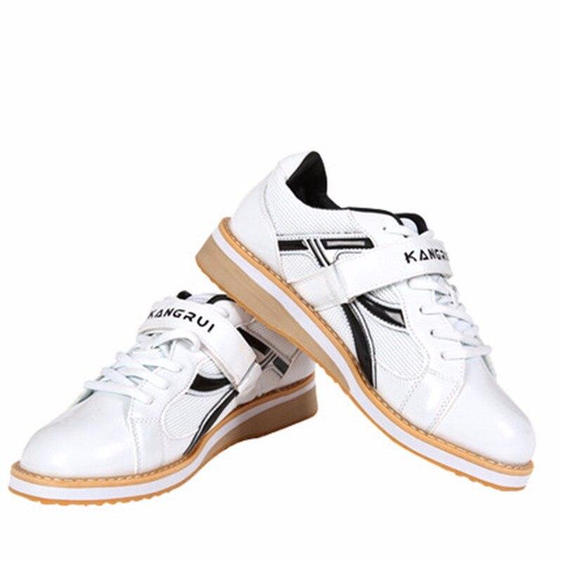 Chaussures d'haltérophilie professionnelles de haute qualité Kangrui Squat formation en cuir antidérapant chaussures de musculation