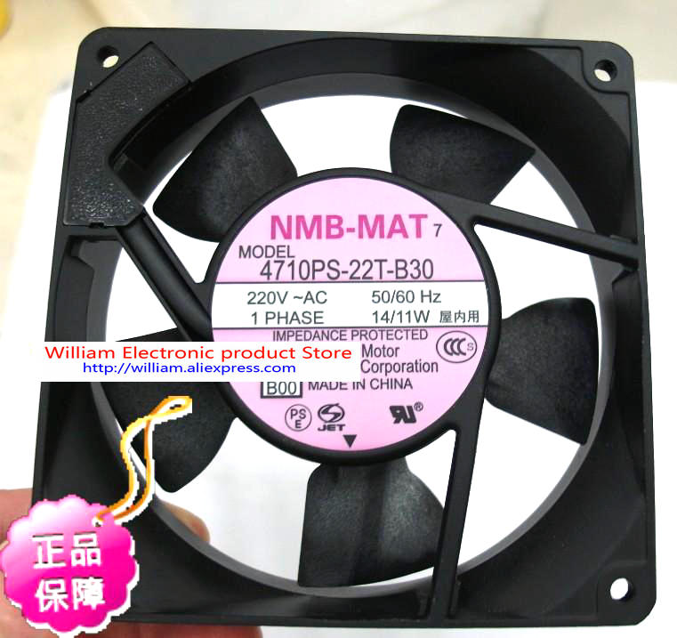 New Original Japanese NMB 4710PS-22T-B30 AV220V 14/11W 120*25MM precision axial cooling fan nmb new and original fba09a12m 9025 9cm 12v 0 2a chassis silent cooling fan 90 90 25mm