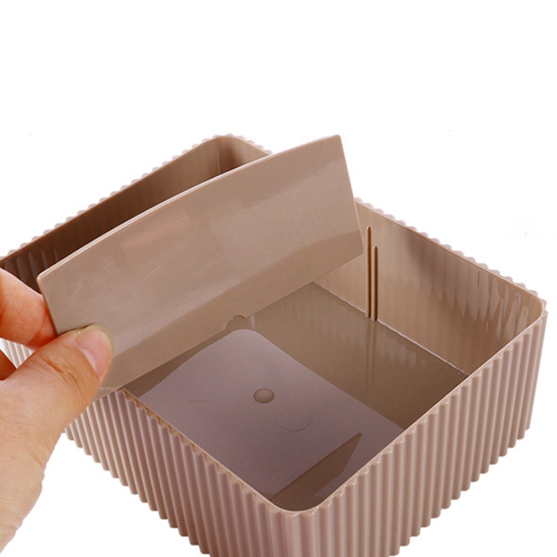Image 5 - Desktop Comestics Makeup Storage Box Household Skin Care Product Storage Box Vertical Grain Saving Space-in Makeup Organizers from Home & Garden