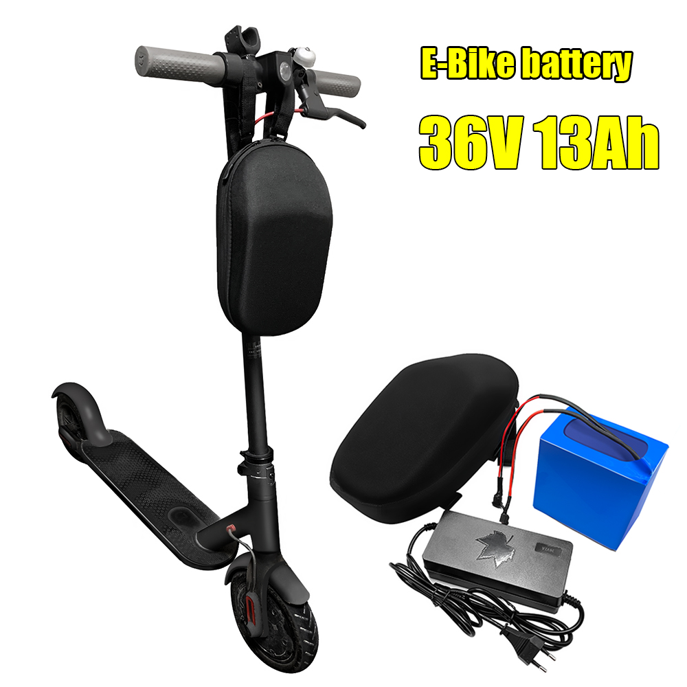 36V 13Ah Lithium Battery Pack ebike akku with bag for 500W 250w folding Electric Bicycle Scooter battery with 15A BMS+2A charger