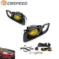 CNSPEED Yellow /Clear Fog Light lamp Halogen fit 99 00 FOR HONDA CIVIC 2/3/4 dr EK EM JDM Kit EX DX LX SI SiR HB HX YC100479