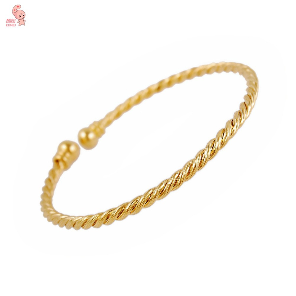HIGH QUALITY elegant fashion design golden Plated twisted wire ...