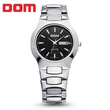 Montres hommes de tungstène acier Robe D'affaires marque de luxe Haut Montre DOM quartz montres De Mode Casual Sport relogio masculino