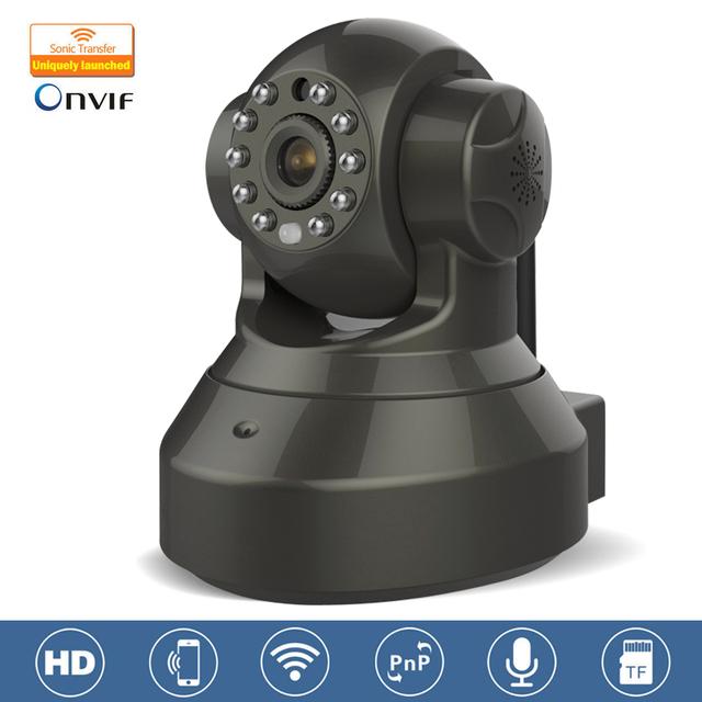 Kervay C7837WIP Negro IP CCTV 720 P Cámara Ir-cut de la Visión Nocturna de Vigilancia de Audio LAN WiFi Cámara de Seguridad IP cámara de Infrarrojos