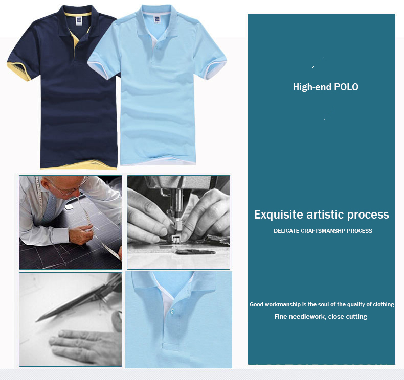 Brand New Men's Polo Shirt High Quality Men Cotton Short Sleeve shirt Brands jerseys Summer Mens polo Shirts 25