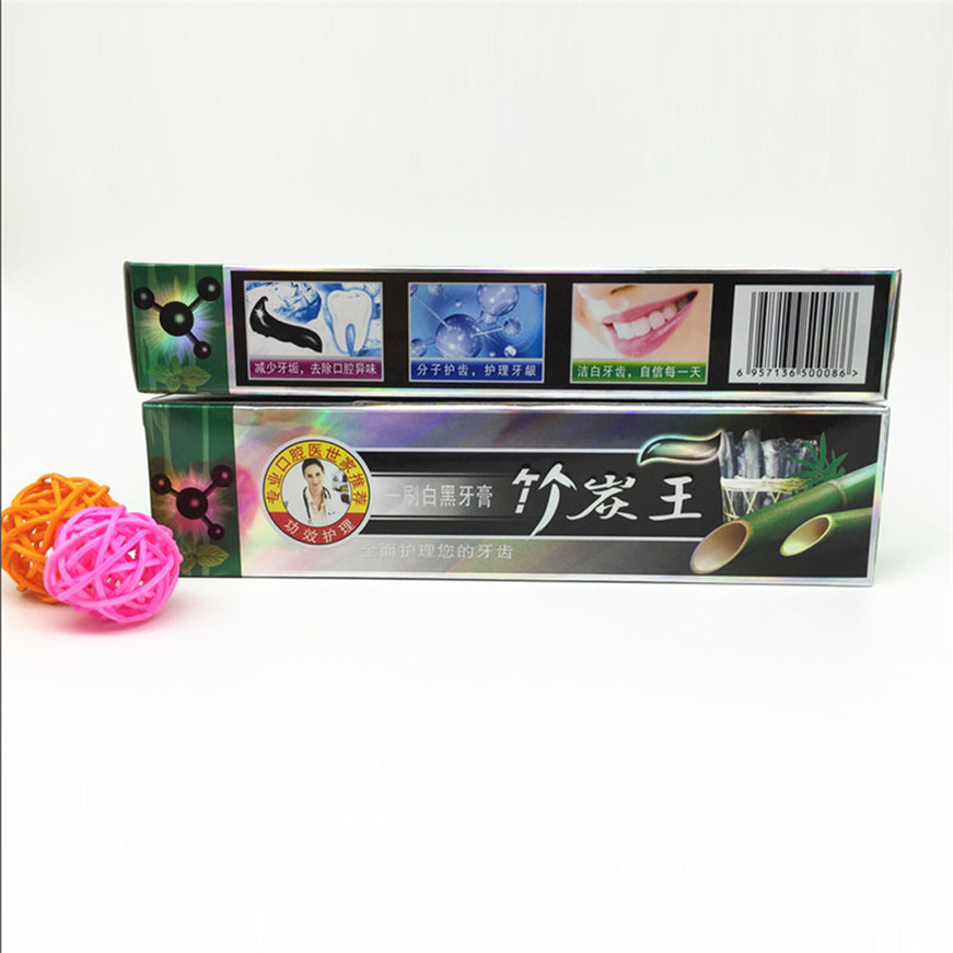 2017 A# 105g Health Care Bamboo Charcoal All-purpose Teeth Whitening The Black Toothpaste 1PCS 4