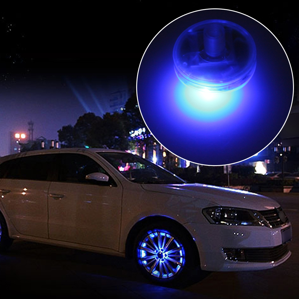 цена на 4Pcs Solar Energy Auto Flash LED Car Wheel Tire Valve Cap Light Lamp Decor Waterproof Atmosphere Flash Light