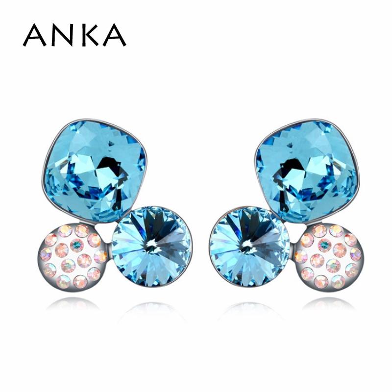 ANKA 2018 top crystal fashion jewelry stud earrings trendy for women zinc alloy flower earrings Crystals from Austria #108672