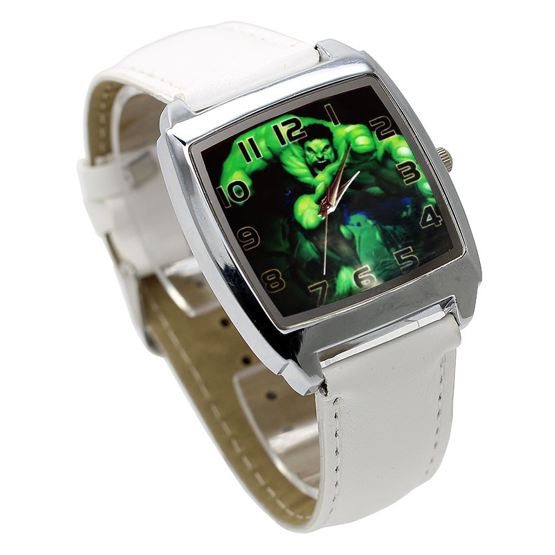 Fashion Movie Characters Cartoon Hulk Children's Watch 3D Leather Quartz Large Dial Ladies Student Bracelet