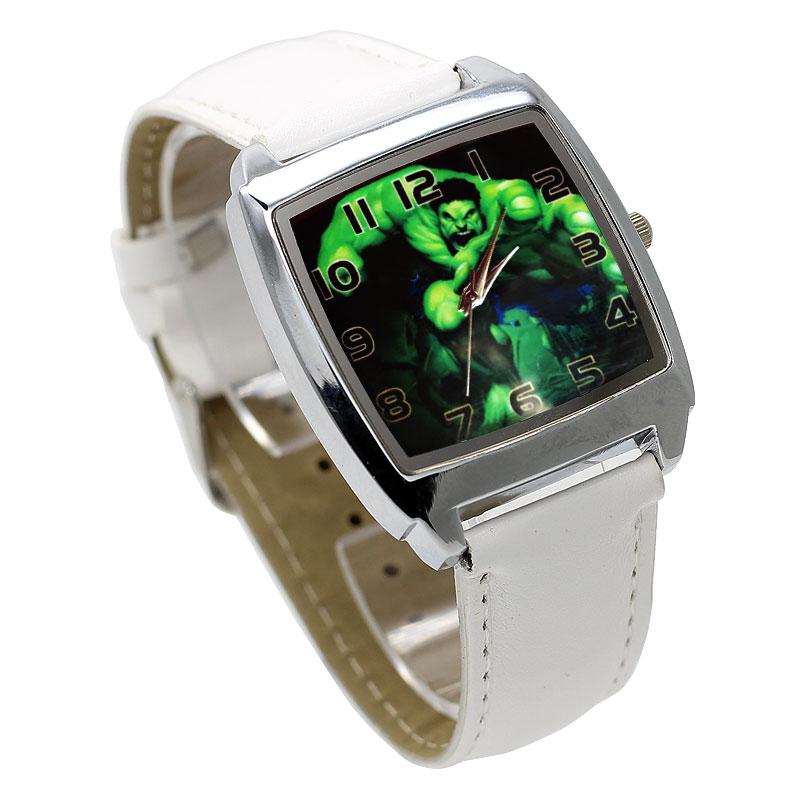 Fashion Movie Characters Cartoon Hulk Children's Watch 3D Leather Quartz Large Dial Ladies Student Bracelet