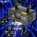 ALIENÍGENA 3D RGB 400 mW DMX Remoto 512 Scanner A Laser Stage Projector Efeito de iluminação Xmas Party DJ Disco Show de Luzes de Luz da Cor Cheia