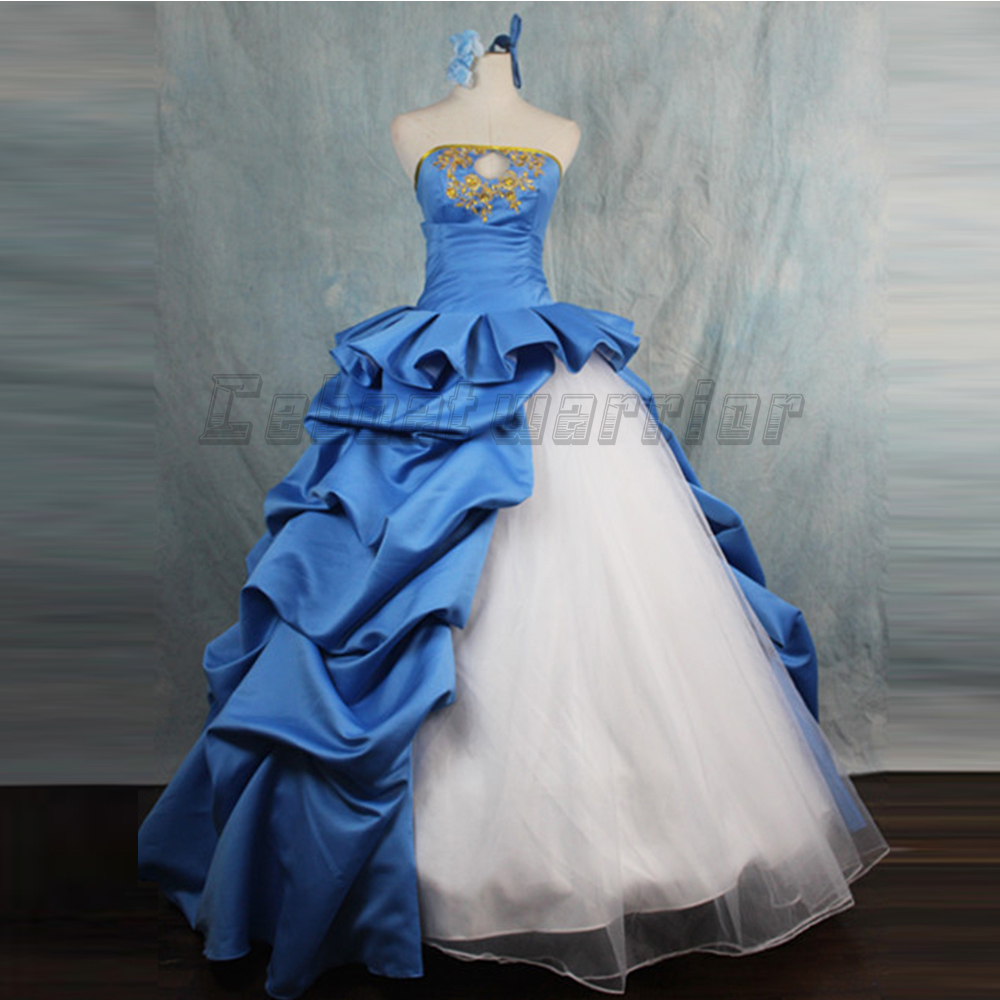 Fate Stay Night/Fate Zero 10th Anniversary Saber Cosplay fancy blue ...