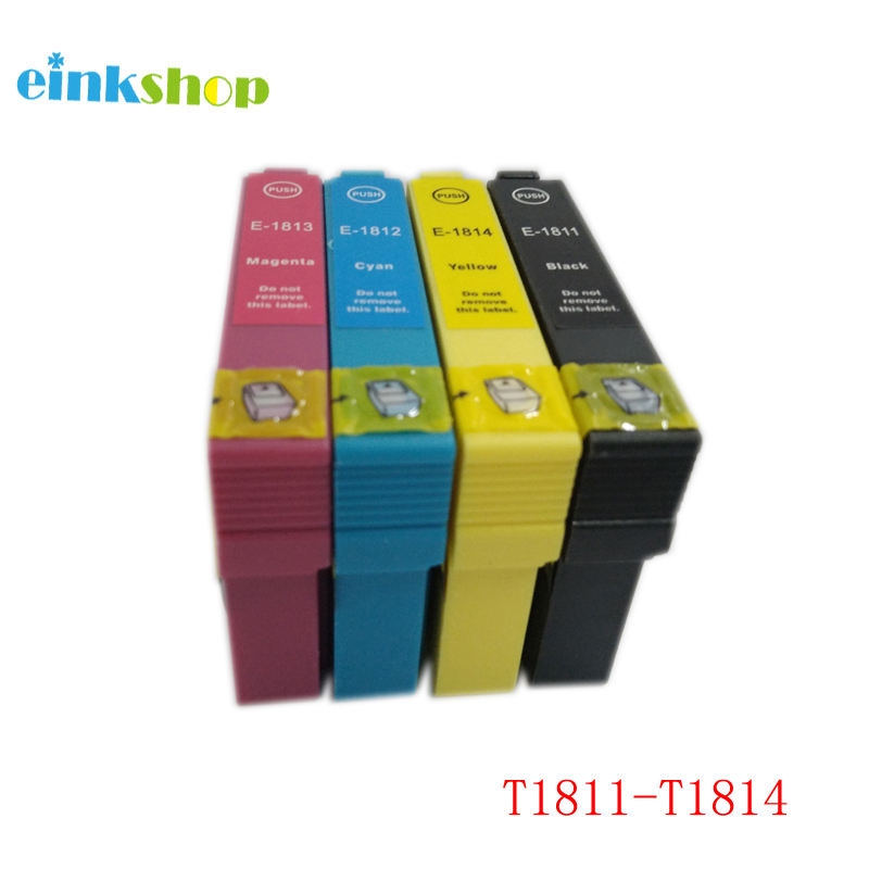 einkshop T1811-T1814 inktcartridge voor Epson Expression Home XP-215 XP-312 XP-315 XP-415 XP-225 XP-322 XP-325 XP-422
